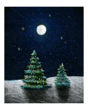 Moonlit Christmas Trees Giclee Print by Nancy Suzanne Mueller