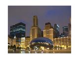 Chicago at night Fotografisk tryk af Patrick  J. Warneka