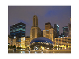Chicago at night Photographic Print by Patrick  J. Warneka