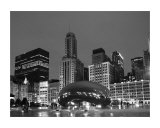 Chicago  Black &amp;White Fotografie-Druck von Patrick  J. Warneka