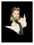 Varga Girl, January 1941 Premium Giclee Print by Alberto Vargas