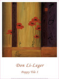 Poppy Tile I Print by Don Li-Leger