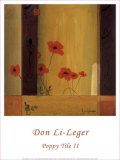 Poppy Tile II Prints by Don Li-Leger