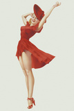 Varga Girl, September 1941 Premium Giclee Print by Alberto Vargas