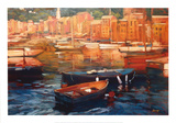 Anchored Boats, Portofino Poster di Philip Craig