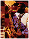 Jazz Club Art by Keith Mallett