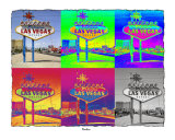 Warhol Las Vegas Sign Giclee Print by Juan Martico