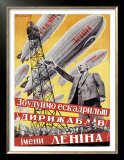 Lenin with Dirigibles Prints