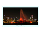 Chicago skyline Chicago White Sox  win Photographic Print by Patrick  J. Warneka
