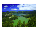 Sete Cidades crater, Azores Photographic Print by Gaspar Avila