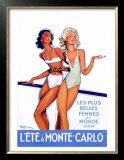 L'Ete a Monte Carlo Art by Jean-Gabriel Domergue