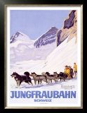 Jungfraubahn Schweiz Art by Emil Cardinaux