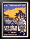 North African Michelin Tire Tour Prints by Bernard Villemot
