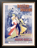 Bullier, Nouveau Bal Poster by Marcellin Auzolle
