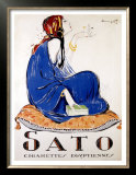 Sato Cigarettes Prints by Charles Loupot