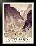 Gotthard Prints by Otto Baumberger