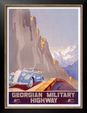 Georgian Military Highway Posters by Jitomirsky 