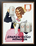 Spaten Brau Prints by Ludwig Hohlwein
