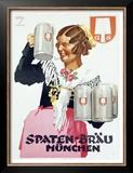 Spaten Brau Prints by Ludwig Hohlwein