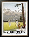 Palace Hotel, St. Moritz Posters by Emil Cardinaux