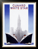 Cunard Line, White Star Posters by A. Roquin