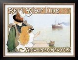 Red Star Line Prints by Henri Cassiers