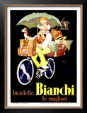 Bianchi Biciclette Poster by  Mich (Michel Liebeaux)