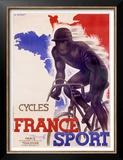 Cycles France Sport Prints by A. Bernat