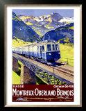 Montreux Oberland Prints by  Elzingre