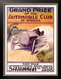 Automobile Club of America, Savannah Race Poster by Malcolm A. Strauss