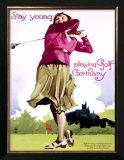 Golf in Germany Art by Ludwig Hohlwein