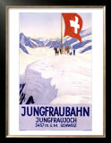 Jungfraubahn Schweiz Poster by Emil Cardinaux