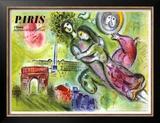 La ópera de París, 1965 Lámina por Marc Chagall