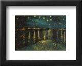 Noite Estrelada Sobre o Ródano, c.1888 Pôsteres por Vincent van Gogh
