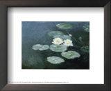 Ninfeas efecto de la tarde Posters por Claude Monet