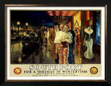 Southport, Evening Posters by Fortunino Matania