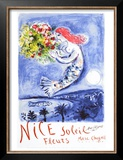 Nice, Soleil Fleurs Poster by Marc Chagall