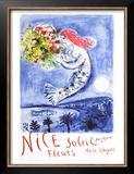 Niza, sol y flores de Chagall Reproducción por Marc Chagall