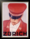 Schweizerhof, Zurich Poster by Alex W. Diggelmann