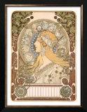 Zodiac (Astrology) Posters by Alphonse Mucha