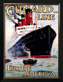 Cunard Line, Aquitania Posters by Odin Rosenvinge