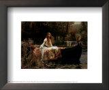 A senhora de Shallot, 1888 Poster por John William Waterhouse