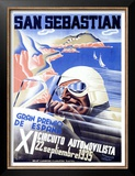 San Sebastian, XI Circuito Automovilista Poster by Viejo Santamarto Acebo