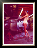 Pin-Up Girl: Street Rod Body Shop Art by David Perry