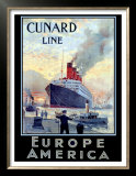 Cunard Line, Europe to America Posters