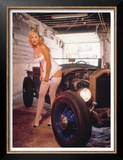 Street Rods and Lingerie Poster by David Perry
