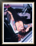 Pin-Up Girl: Front Seat Tattoo Prints by David Perry