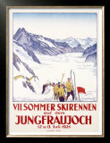 Switzerland, VII Summer Glacier Ski Prints by Emil Cardinaux