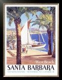 West Beach, Santa Barbara Prints
