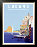 Italian Resort Lugano Posters by Leopoldo Metlicovitz